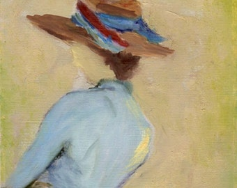 Layla  8x10 Canvas Giclee Print of Original Fashion Oil Painting by Kathleen Farmer Denver Artist