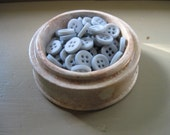 buttons, light blue shirt buttons, blue gray, vintage button, gray blue, dusty blue, new old stock,set of 30