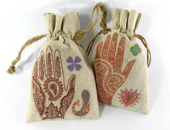 Wedding Favor Bags India : Items similar to Indian Bridal WEDDING FAVORS Mehndi Ceremony ...