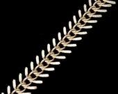 Matte Gold, 14mm Fishbone Chain CC88