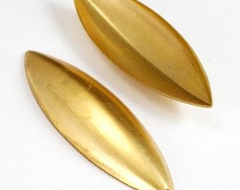 55mm Brass Domed Navette (2 Pcs)  #2797
