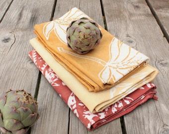 honey brown batik towel