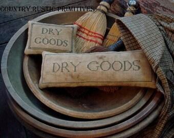 Primitive Dry Goods Pillow Tucks Cross Stitch E Pattern PDF