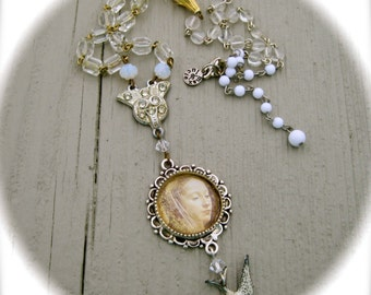 Peaceful  handmade necklace