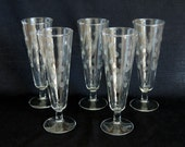 Pilsner Beer Flutes with Fun Polka Dots