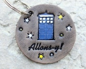 Personalized Keychain Leather Doctor Who Tardis