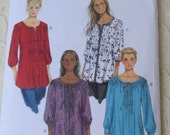 Butterick B5861 Sewing Pattern Womens Tunic Top, Size RR Womens 18-24