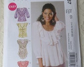 McCalls M6467 Sewing Pattern Top with Variations Size E5 Womens 14-22