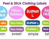 Kids Clothing Labels | Peel and Stick Clothing Labels | Personalized Waterproof Clothes Labels | Kids Clothing Labels | School ID Labels