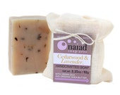 NEW- Cedarwood Lavender Shea Butter Soap - All natural - great for men