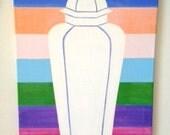GINGER JAR STRIPE Original Painting