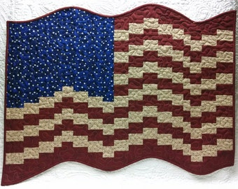 Bargello Flag Quilt