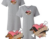 Dachshund Sleep Shirt Wiener Dog Mom Tattoo