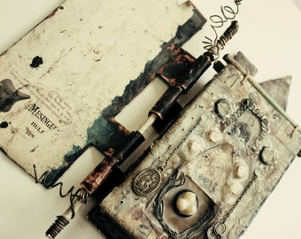 Mixed Media Online Workshop Tutorial  Encaustic and Metal Journal Let The Journey Begin Online