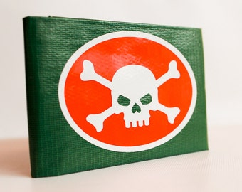 Skull and Crossbones Duct Tape Wallet - by jDUCT