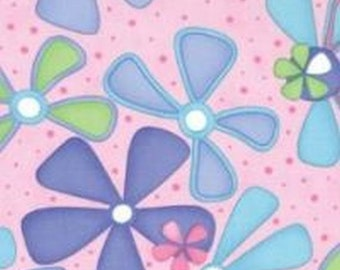 Moda Fabric - Dilly Dally Pink Floral