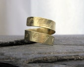 Hakuna Matata Ring // Inspirational Jewelry - Handstamped Custom Symbol Ring // Open Wrap Band // Gift for HER under 30 dollars