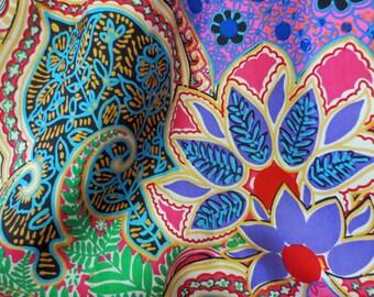 Medium 1960s Vintage Multi Color Silk Sundress Slim Wiggle Rockabilly Pin Up Day Dress 38-30-40 Viva Las Vegas Mod Scooter Mad Men