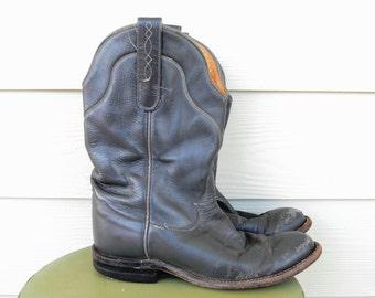 Vintage Tony Lama Cowboy Boots size Mens 6 B Womens 7.5