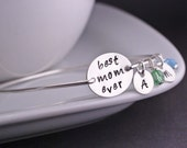 Best Mom Ever Bracelet, Mother Gift, Sterling Silver Mom Jewelry, Hand Stamped Bangle Bracelet, Mother's Day Gift