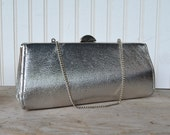 Vintage Silver Metallic Purse - Vintage Wedding - Vintage Evening Bag - Royal Hill Vintage