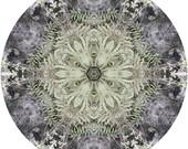 Mandala Art, Zen Art, Abstract Wall Art, Peaceful Art, Nature Wall Decor, Circle Art Print in Sage Green & Grey