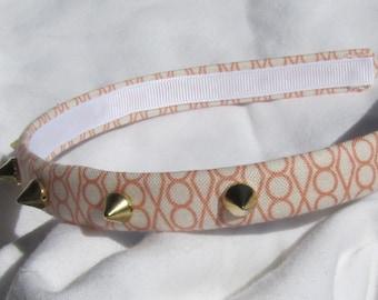 Peach And Cream Spiked Headband Hairband Spiked Headband