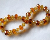 Crystal Champagne and Topaz bracelet