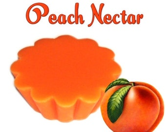 4 Peach Nectar Tarts Wickless Candle Melts Summer Fruit Scent