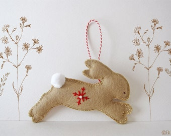 Make your own Bunny Ornament - PDF Pattern - felt ornament pattern, Dream of Bunnies - Sewing Pattern - Christmas Tree Ornament Pattern