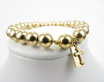 Luxurious Gold Fill Ball Bead Stacking Bracelet - Christian Jewelry  - Go-Go Collection