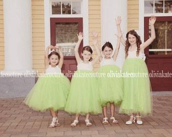 Lime Flower Girl Dresses