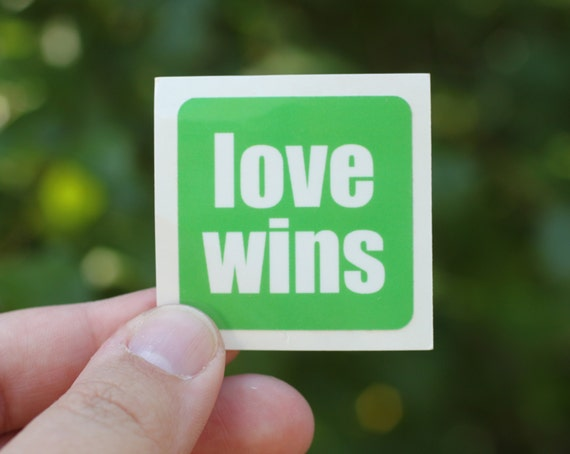 love wins . a sticker set