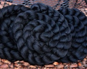 Merino Combed Top for Spinning or Felting - Black