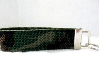 Camouflage Keychain Camo Key Fob Large Key Chain Wristlet