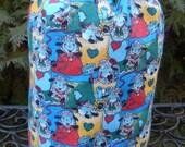 Sheep Drawstring bag, WIP bag, knitting project bag, counting smilng sheep, Suebee