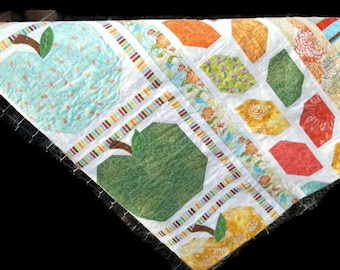 Patchwork Quilt, Summer Apple Harvest