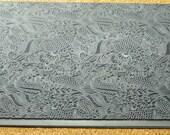 Mega JUNGLE LOVE Rubber Clay Texturinzing Stamp  MGT-206