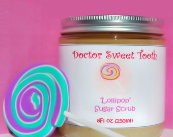 LOLLIPOP Argan Oil & Shea Butter Sugar Scrub (Paraben Free) 8oz
