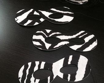 MADE TO ORDER Zebra print Masks