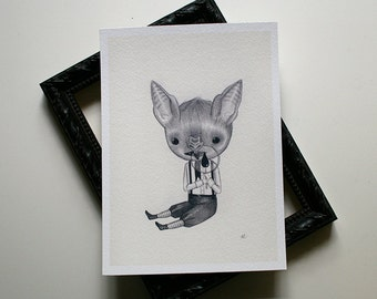 Baby Bat (boy) - archival print