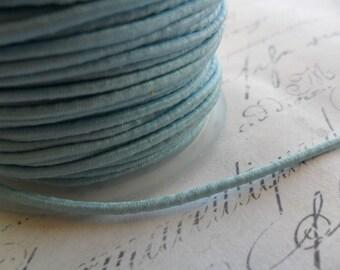 Matte Pale Blue Blue Elastic Cording