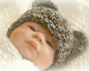 Instant Download - Crochet Pattern - PDF - Teddy Bear Hat, 4 sizes included