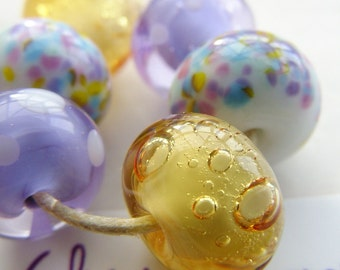 Lampwork Glass Beads Ametrine Dreams