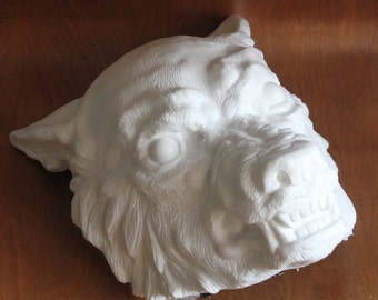 Cast Resin Werewolf Wolf Mask based on original sculpt DIY RAW CAST