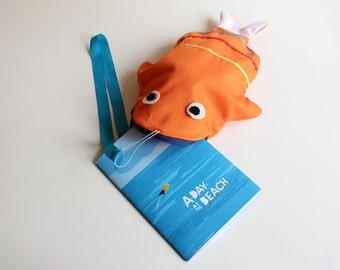 Tote bag Fish (ORANGE) + book
