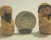 hand sculpted nativity, teeny Tiny Nativity