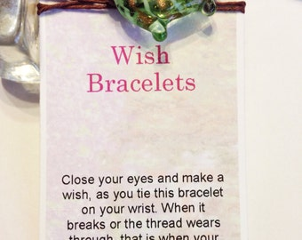 Wish Bracelet --Brown Hemp