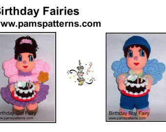 PDF Birthday Fairies Crochet Patterns