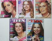 Lot of 1970s TEEN MAGAZINE 5 issues 1977 1978